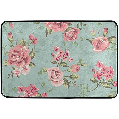 Zome Lag Felpudo Vintage Country Garden Rosas Flores