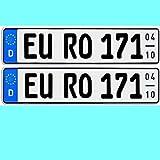 2 x Kfz Kennzeichen Saisonkennzeichen Saison Autoschilder Autokennzeichen mit individueller Prägung nach Ihren Vorgaben + KFZ Schein Schutzhülle