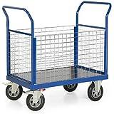 Plattformwagen Serie F 500 mit 4 Wänden aus Gitter, Traglast bis 500 kg, Ladeflächen Maß:1200x800