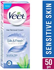 Veet Silk & Fresh Hair Removal Cream, Sensitive Skin - 50 g