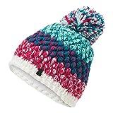 Spyder Berry Damen Strick Bommel Winter Ski Mütze Multi