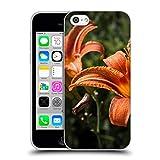 Head Case Designs Offizielle PLdesign Orangen Gelbe Feuer Lilie Blumen Und Blaetter Soft Gel Hülle für iPhone 5c