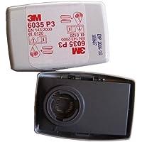 2-Teilig Filter für Stäube 3M Artikel-Nr.6035 P3 P2 für Maske-Serien 6000 und 7000