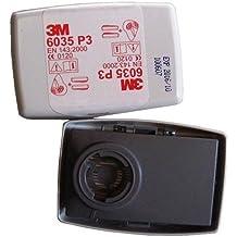 3M - Filtros 6035 P3 para máscaras de polvo de la serie de 6000 a 7000 (paquete de 2 unidades)