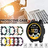 raspbery for Garmin Forerunner 935 Watch Case (49mm) Screen Side PC Protective Cover Slim Protection Shock Absorption Scratch Resistant Compatible Garmin Forerunner 935 Watch