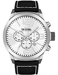 TW Steel Marc Coblen Edition Chrono mit Lederband 50 MM Silver/Black TWMC60