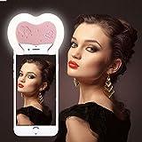 immagine prodotto Reacher Selfie Luce Anello Flash Macro Ring Light Supplementare di Illuminazione Notturna per iPhone Samsung HTC Nokia iPad LG Motorola e Altri Smartphone (Rosa)