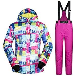 QZHE Skianzug Winter Skianzug Frauen Ski Sets Kleidung Winddicht Wasserdicht Outdoor Mantel Schneehosen Skifahren Und Snowboarden Jacken