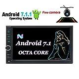 EinCar Octa-Core-Auto-MP5 Android 7.1-System GPS Radio Stereo-kapazitives Touchscreen-Steuergerät Autoradio Bluetooth Wifi 4G/3G OBD FM/AM RDS USB/SD + Wireless Back-up-Kamera
