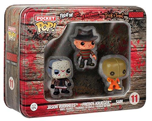 Preisvergleich Produktbild Funko 024495 Pocket Pop Horror 3-Pack Figures Jason Voorhees Freddy Krueger und Sam 11, 4 cm