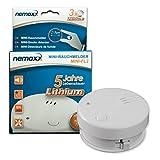 1x Nemaxx Mini-FL2 Rauchmelder - hochwertiger & diskreter Mini Brandmelder Feuermelder Rauchwarnmelder mit Lithium Batterie - nach DIN EN 14604