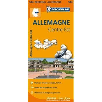 Carte Allemagne Centre-Est Michelin