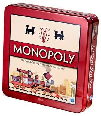 Monopoly Nostalgie - Das berühmte Gesellschaftsspiel - in der Blechdose