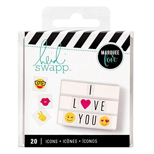 Heidi Swapp Lightbox Inserts 20/Pkg-Emoji Icons