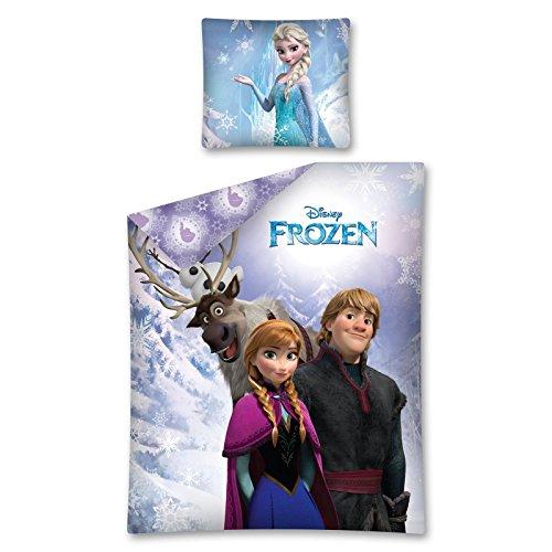 Disney - Funda nórdica y funda de almohada, diseño de Frozen