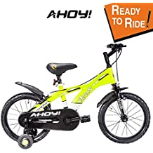AHOY! Fitted & Ready to Ride Cycle 16 inch Chaos for Boys (5 to 7 Years) - Neon Yellow