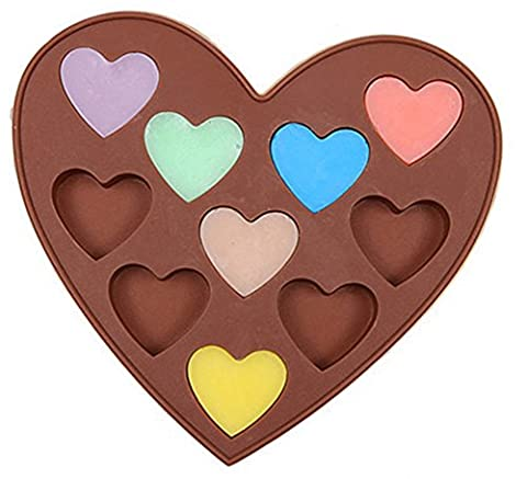 SaySure - 10 Holes Heart Silicone Candy Chocolate Mold Cake