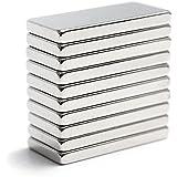 SolPortalHome Super Stark Kräftig Neodym Viereckig Ziegel Magnete 20 x 10 x 2 mm 10 Stück Qualität N35 Silber