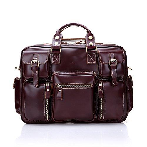 Everdoss Hommes Sac à main en cuir sac à bandoulière sac à bandoulière rétro sac Messenger sac commercial