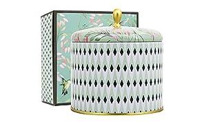 La Jolíe Muse Duftkerze Groß 100% Sojawachs Kerze Weißer Tee Kerze in Dose 2 Dochte 80Std 400g