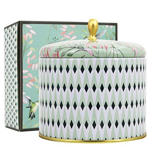 La Jolíe Muse Duftkerze Groß 100% Sojawachs Kerze Weißer Tee Kerze in Dose 2 Dochte 80Std 400g -
