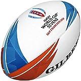Gilbert Unisexe Coupe du Monde de Rugby Sevens Synergie XV-6Ballon de Match, Multicolore, Taille 5