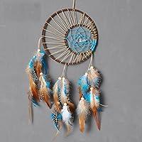 Naisicatar atrapasueños hecho a mano indio real plumas colgante de pared coche decoración adorno manualidades regalo