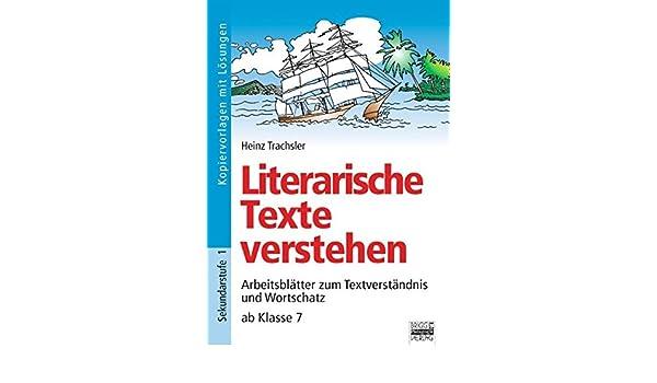 Brigg: Deutsch: Literarische Texte verstehen: Arbeitsblätter zum ...