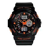 Yesurprise Reloj Deportivo De Silicona Para Hombre 0955 Luminoso Alarma Cronómetro Calendario Color Naranja