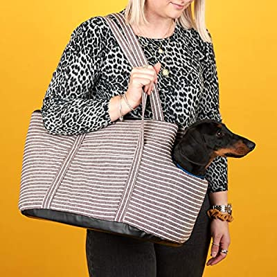 Me & My Pets Soft Brown Striped Pet Carrier by Me & My Pets