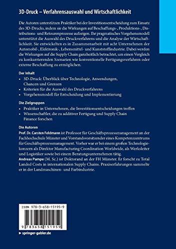 3D-Druck – Verfahrensauswahl und Wirtschaftlichkeit: Entscheidungsunterstützung für Unternehmen (essentials) - 2