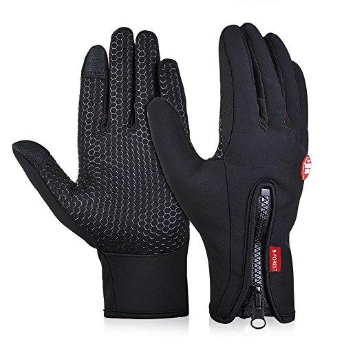 Limirror wasserdichter Touchscreen Handschuhe Winter Fahrradhandschuhe Laufhandschuhe Sports Handschuhe mit Touchscreen Funktion … (L)