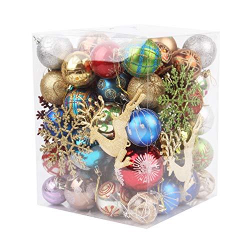 Amosfun ornamenti di palline di natale palline per albero di natale ornamenti per decorazioni natalizie (colore casuale)
