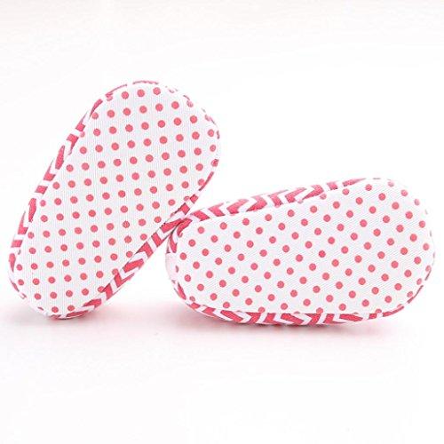 Clode® Nette Kleinkind Baby Mädchen Schuhe Streifen Bowknot Weiche Sohlen Lässige Schuhe Hot Pink