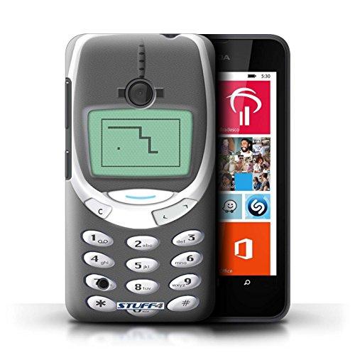Stuff4® Custodia/Cover Rigide/Prottetiva Stampata con Il Disegno Telefoni retrò per Nokia Lumia 530 - Grigio Nokia 3310