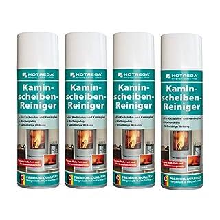 Hotrega H130907 Kaminscheiben-Reiniger - 4er Set
