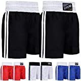 Farabi Pro Boxing Shorts for Boxing Training Punching, Sparring Fitness Gym Clothing Fairtex jiu Jitsu MMA Muay Thai Kickboxing Equipment Trunks (Black, Medium)