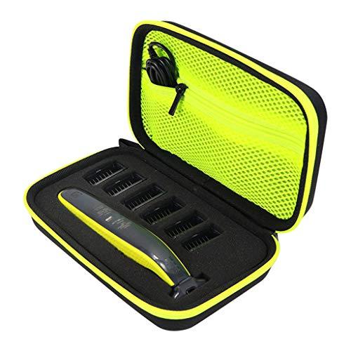 htfrgeds Aufbewahrungstasche Tragbare Schutzaufbewahrung Säckchen Tasche Box für Philips OneBlade QP2530 / 2520 Rasiererzubehör Aufbewahrung der EVA-Reisetasche