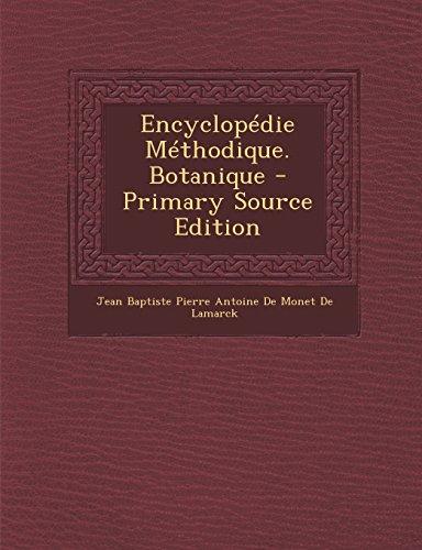 Encyclopédie Méthodique. Botanique par From Nabu Press