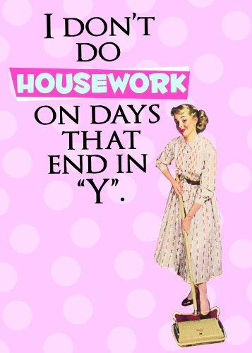 Retro Geschirrtuch I DON'T DO HOUSEWORK... (Polka Retro Pink Dot)