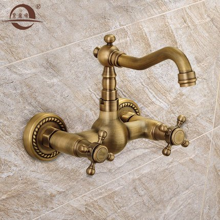 lei-retro-antique-solid-brass-two-holes-double-handles-wall-mounted-kitchen-tap-with-oil-rubbed-bron