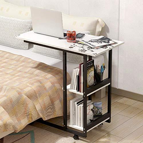 JIE Faule Tisch-Klapptisch Mobile Computer Schreibtisch Einfache und Moderne Mini-Tee-Tisch MDF + Metall Sofa Schrank Schreibtisch sparen Platz,B -