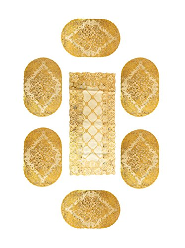 Vendi Pie Table Mats And Table Runner Combo Set - Home Furnishing...