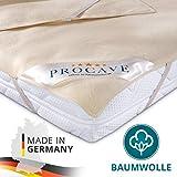 Coprimaterasso Molton PROCAVE, coprimaterasso in cotone 100%, copri materasso anti acaro, made in Germany, 90x200cm