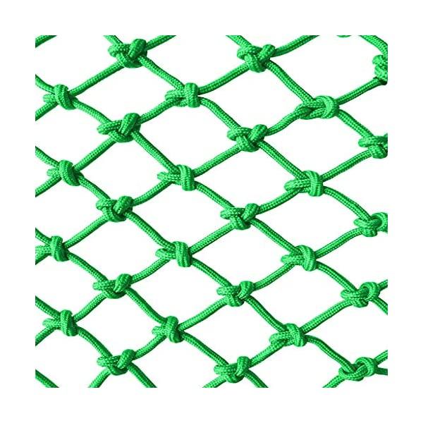 Light green Outdoor Child safety net protective net balcony stairs anti-fall net kindergarten color decorative net fence network Width 1/4M Length 1M /9M Hand braided traditional structure  [Protect children's safety]: Many children fall from the building, let us understand that the safety of children can not be ignored. [Polyester knotless woven mesh]: The mesh surface has large pulling force, and the double needle has no knot woven mesh hole, so that the mesh has stronger impact resistance. [wire diameter 10MM, mesh spacing 10CM]: Escort for baby safety.(Others available in our shop) 1
