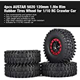 4pcs AUSTAR 5020 120mm 1.9in Llanta Ruedas neumáticos para 1/10 RC Crawler Car