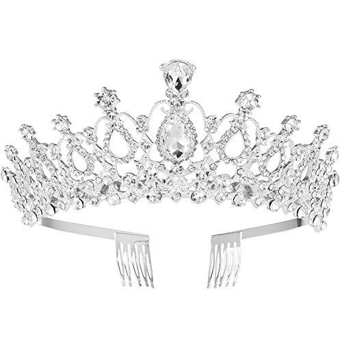 Kristall Haarband Krone Tiara Haarspange Frauen für Hochzeit, Strass Brautkrone für Party Dekoration (Königin Tiara)