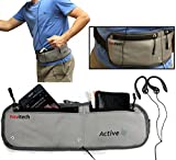 Navitech Grey MP3/MP4 Running / Jogging Water Resistant Sports Belt / Waistband For the Sony NW-E394