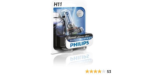 Philips 12362bvub1 Bluevision Ultra Scheinwerferlampe H11 1 Stück Im Blister Auto