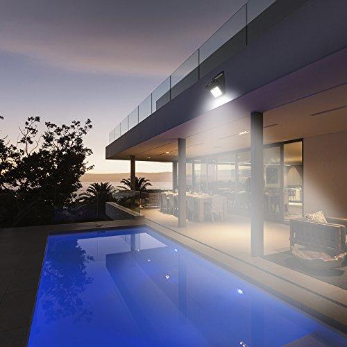 Foco Solar  Luces Solares 28 LED 1200mAh Lámparas Solares de Pared Impermeable  Luz de solar Luces de Exterior con Sensor de Movimiento Batería Solar Exterior para Jardín Patio Camino Escalera  2 Paquete
